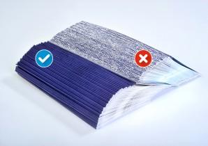 Tech-ni-Fold fibre cracking and non-fibre cracking