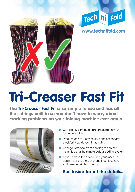 Tech-ni-Fold Tri-Creaser Fast Fit brochure